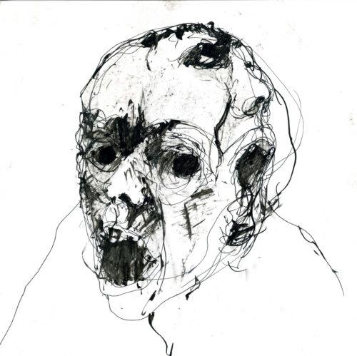 schizophrène  - encre sur papier 21x21cm 2014