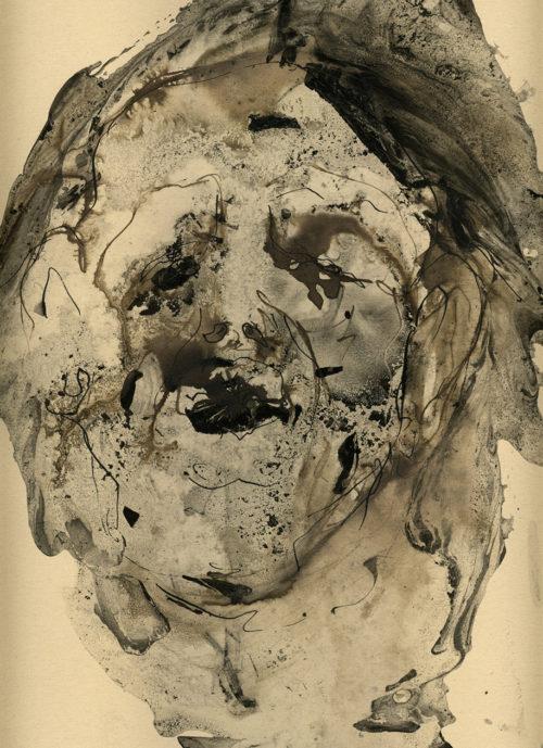 Tête - encre sur papier 35x27cm 2013
