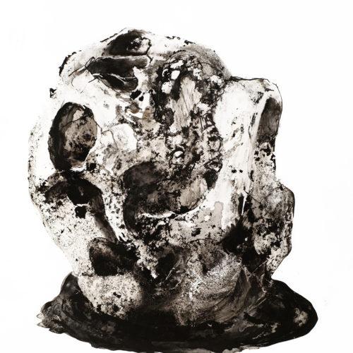 Crâne - encre sur papier  25x35cm 2016