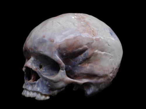 crâne avec emaux